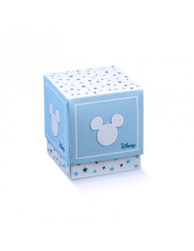 Scatole Portaconfetti Disney Topolino Battesimo Nascita mm. 50x50x50 - Bomboniere Shop Store
