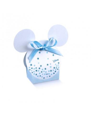 Scatole Portaconfetti Mickey Disney Topolino Battesimo Nascita mm. 55X40X105 - Bomboniere Shop Store