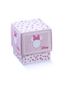 Scatole Portaconfetti Disney minnie Battesimo Nascita mm. 70x70x70 - Bomboniere Shop Store