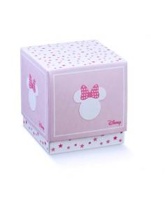 Scatole Portaconfetti Disney minnie Battesimo Nascita mm. 90x90x90 - Bomboniere Shop Store