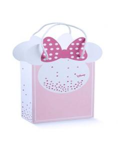 Busta Minnie Disney Battesimo Nascita mm. 155X75X205 - Bomboniere Shop Store