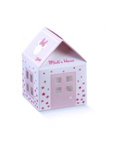 Scatoline Portaconfetti Disney casetta topolina Battesimo Nascita mm. 55x55x50 - Bomboniere Shop Store