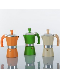 CAFFETTIERA MOKA 3 COLORI H. 14,5 BomboniereShopStore