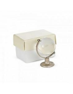 Bomboniera mappamondo trasparente piccolo con scatola - Bomboniere Shop Store