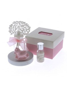 Bomboniera profumatore con cavallino rosa e albero della vita