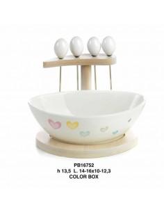 Set vassoio legno con ciotola prendiolive ceramica - Bomboniere Shop Store