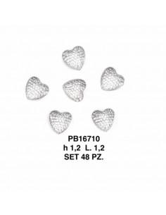 Set 48 cuori BIANCO plastica trasparente BomboniereShopStore