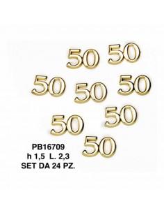 SET 24 APPLICAZIONI NUMERO 50 - Bomboniere Shop Store