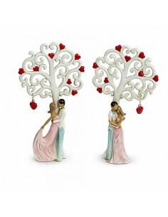 Bomboniera albero della vita grande con coppia innamorati