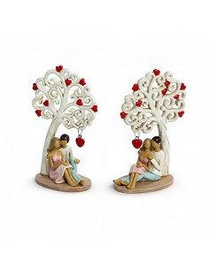 Bomboniera albero della vita medio con coppia seduta