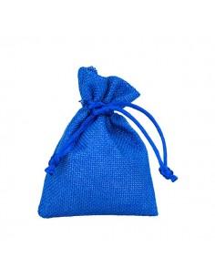 Sacchetto bomboniera in stoffa blu con tirante - Bomboniere Shop Store