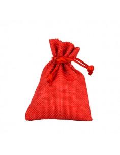 Sacchetto bomboniera in stoffa Rosso con tirante