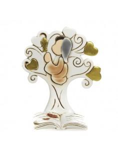 Bomboniera Albero libro con bimba in preghiera