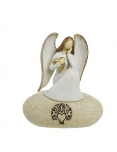 Bomboniera angelo stilizzato su roccia Mandorle