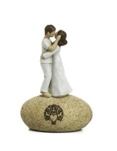 Coppia innamorati stilizzato su roccia Mandorle