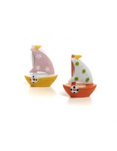 Bomboniera barca a vela giallo e arancio BomboniereShopStore