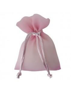 Sacchetto con tirante stoffa lucida rosa - Bomboniere Shop Store