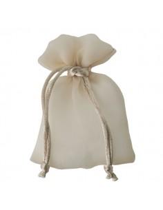 Sacchetto con tirante stoffa lucida crema - Bomboniere Shop Store
