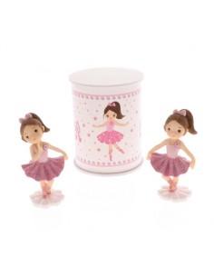 Bomboniera ballerina rosa grande con scatola - Bomboniere Shop Store