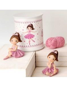 Bomboniera ballerine rosa piccole con scatola