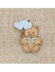 Applicazione bomboniera orsetto con cuoricini celeste (12pz) - Bomboniere Shop Store