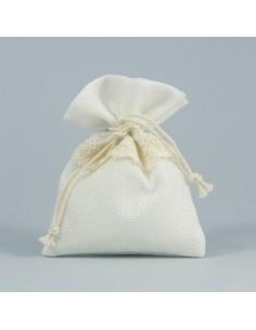 Sacchetto portaconfetti juta bianco - Bomboniere Shop Store