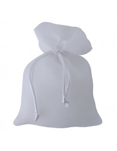 Sacchetto stoffa lucida bianco - Bomboniere Shop Store