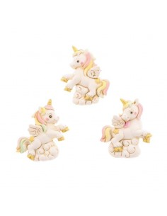 Bomboniera unicorno rosa in resina con magnete - Bomboniere Shop Store