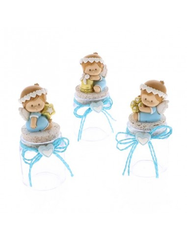 Bomboniera barattolo con angelo celeste - Bomboniere Shop Store