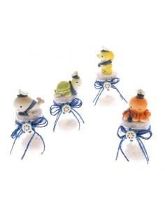 Portaconfetti barattolo vetro con animali marini - Bomboniere Shop Store