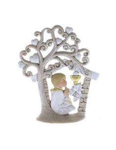 Bomboniera albero glitter con bimbo comunione
