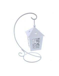 Lanterna farfalla bianca con stand BomboniereShopStore