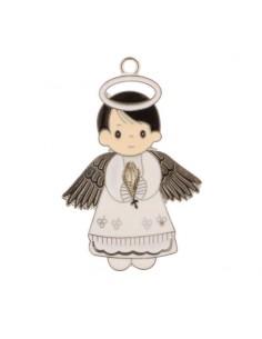 Ciondolo in zama angelo bianco BomboniereShopStore