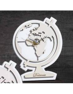 Mappamondo orologio crema Bomboniere Dolcicose - Bomboniere Shop Store