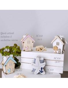 Box WOOD BAG casa baby legno CELESTE cm. 8 - Bomboniere Shop Store