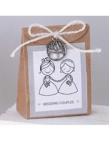 Paper bag WEDDING COUPLES cm.8,5 - Bomboniere Shop Store