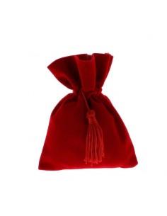 Sacchetto laurea in velluto rosso grande BomboniereShopStore