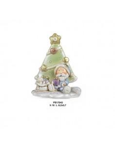 Babbo Natale resina con albero - Bomboniere Shop Store
