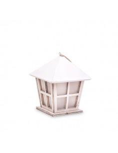 Lanterna pagoda in legno bianco BomboniereShopStore