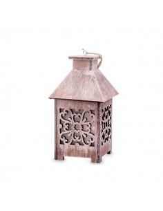 Lanterna in legno marrone BomboniereShopStore