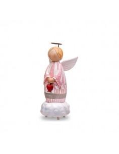 Carillon angelo rosa senza viso BomboniereShopStore