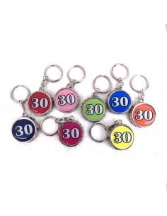 Portachiavi metallo TAPPO CORONA apribottiglia 30 anni - Bomboniere Shop Store