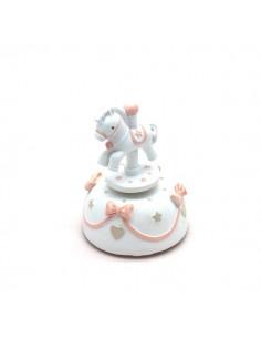 Carillon bomboniera Battesimo cavallino rosa BomboniereShopStore