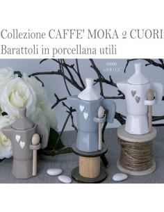 Zuccheriera porcellana CAFFE' MOKA 2 CUORI