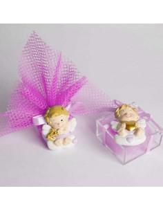 Bomboniera battesimo e nascita magnete angelo cupido rosa - Bomboniere Shop Store