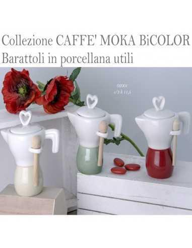 Zuccheriera porcellana CAFFE' MOKA BICOLORE - Bomboniere Shop Store