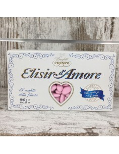 CONFETTI CRISPO MANDORLA ROSA ELISIR D AMORE - Bomboniere Shop Store