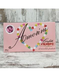 CRISPO CONFETTI AMORINI ROSA CUORI AL CIOCCOLATO - Bomboniere Shop Store