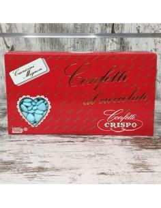 Confetti cuoricini mignon azzurri al cioccolato da 1kg - Bomboniere Shop Store