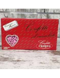 Confetti cuoricini mignon al cioccolato rosa da 1kg - Bomboniere Shop Store